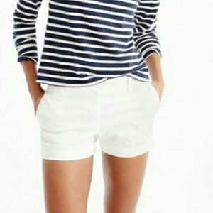 J Crew 3 Inch Chino Shorts 4 White